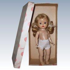 Boxed 1954 Vintage SLW Nancy Ann Muffie Doll NO BROWS Correct Box