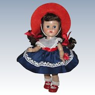 Adorable 1955 MLW Vintage Vogue Ginny Doll #43 Tiny Miss Dress Rosy Cheeks