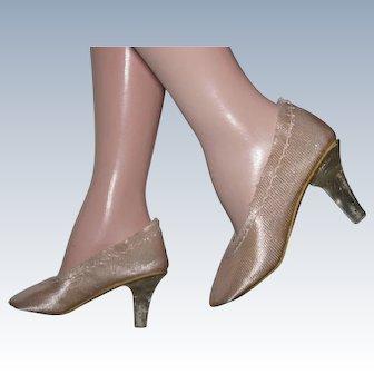 Madame Alexander Cissy Doll High Heel Shoes Close Toe Pumps Clear Heels