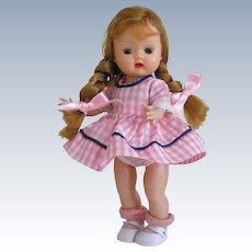 Sweet 1955 MLW Vintage Nancy Ann Muffie Doll Blonde Braids