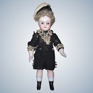 "All Original 4-1/4"" Antique German All Bisque Mignonette Doll"