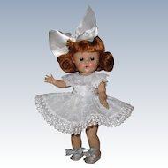 "Beautiful 1952 Vintage Vogue Ginny Doll ""April"" #24 Kindergarten Great Facial Coloring!"