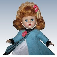 LOVELY 1955-56 MLW Vintage Vogue Ginny Doll #6186 Coat w/ Tagged Dress
