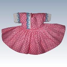 Beautiful 1954 Vintage Nancy Ann Muffie Doll Dress #508-2 Gay Cotton Prints