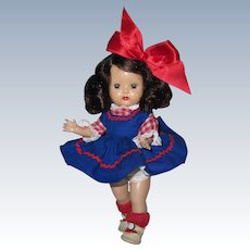 1954 SLW Nancy Ann Muffie Doll Minty Royal Pique Jumper Favorite Fashions #606-2