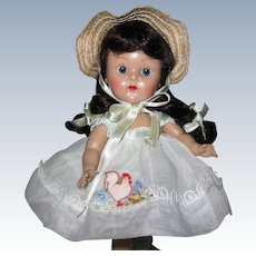 """ADORABLE 1954 PLW Vintage Vogue Ginny Doll #56 Candy Dandy """"Chicken"""" Great Facial Coloring With Rosy Cheeks"""