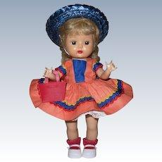 Original 1955 Vintage SLW Nancy Ann Muffie Doll Wearing #602-3 Favorite Fashions