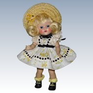 """LOVELY 1953 Strung Vintage Vogue Ginny Doll """"Wanda"""" #40 Tiny Miss High Color"""