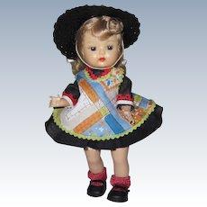 1950's SLW Nancy Ann Muffie Doll 1957 Unusual H-T-F Dress #604-5 Dress-Up Styles