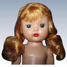 Very Pretty 1955 MLW Vintage Nancy Ann Muffie Doll Strawberry Blonde Braids