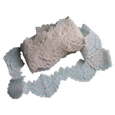 Antique Vintage Fine Brussels Duchess Lace Trim 11 Yds. x 3 In. Wide