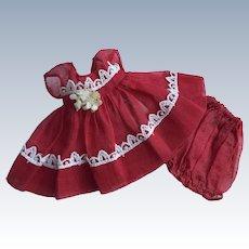 1953 Strung Vintage Vogue Ginny Doll Dress KAY #23 Kindergarten Afternoon