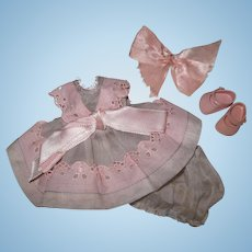 Minty Tagged 1954-55 Vintage Vogue Ginny Doll Dress #23 Kinder Crowd Series
