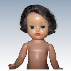 Sweet 1955 MLW Vintage Nancy Ann Boy  Muffie Doll Brunette