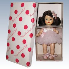 """Mint Boxed 1954 Vintage SLW Nancy Ann Muffie Doll """"Ballet"""" #806-2 Special Occasions Style"""