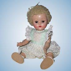 "Fabulous 1951 Vintage Vogue Ginny Crib Crowd Baby Doll ""Dora"" #45"