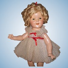 "Beautiful 18"" All Original Composition Shirley Temple doll ""Curly Top"" No Crazing!"