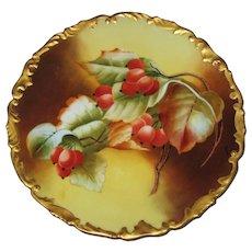 Beautiful French Limoges Porcelain Cabinet Plate T & V Tressemann & Vogt Artist Signed
