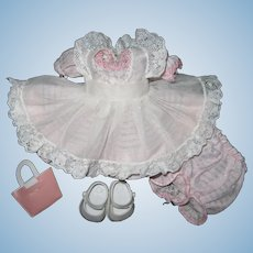 1950's Tagged Cosmopolitan Ginger Doll Party Dress Set Fits Ginny & Muffie Dolls