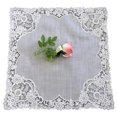 Lovely Vintage Lace Bridal Hankie