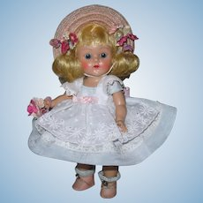 "Stunning 1953 Strung Vintage Vogue Ginny Doll ""Karen"" #63 Debutante Series"