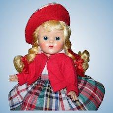 1952 Vintage Vogue Strung Ginny Doll Blonde Braids Eve #36 Brother & Sister Series