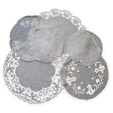 Six Vintage Doilies w/ Lace & Embroidery Some Tagged