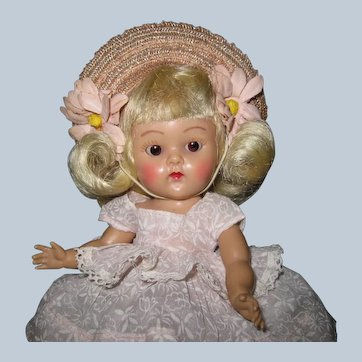 "Fabulous 1952 Strung Vogue Ginny Doll #42 ""Glad"" Tiny Miss Series Great Face!"