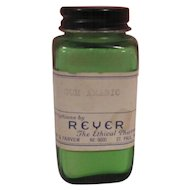 Old Green Glass Pharmacutical Bottle