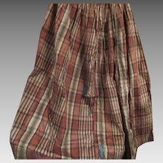Super Old Taffeta Plaid Skirt