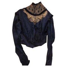 Superb Vintage Ladies Silk Taffeta Blouse