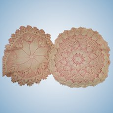 Two Old Lace Dollhouse Tablecloths
