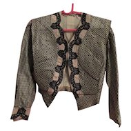 Old Silk Taffeta Fabric Blouse