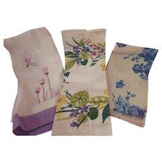 Three Wonderful Vintage Hand Towels