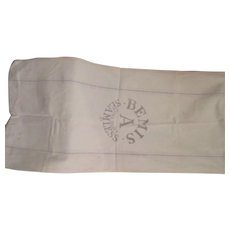 Old Cotton Sack Cloth with Advertising Print Work