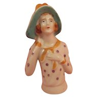 Wonderful Old Vintage Pin Cushion Flapper Style Lady