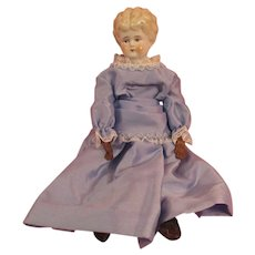 """Antique China Doll With Name Fully Marked """"Marion"""""""