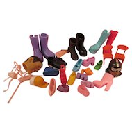 Vintage Collection of Shoes for Barbies and similar dolls.