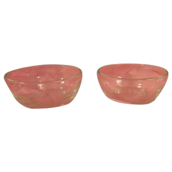 Pair of Mid Century Glass Serving Bowls