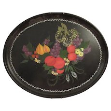 Beautiful Old Toleware Tray.