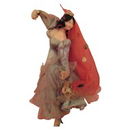 Vintage Spanish Dancer Cloth Doll