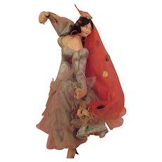 Vintage Spanish Dancer Cloth Doll