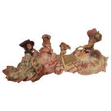 Set of Hard Plastic National Dolls