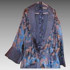 Vintage Men's short Lounging Robe or Smoking Jacket