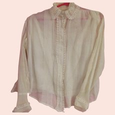 Fine Old Cotton Blouse with Camasol Undergarment