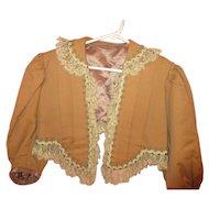 Old Vintage Brown Ladies Blouse Jacket