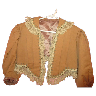 Old Vintage Brown Ladies Blouse Jacket