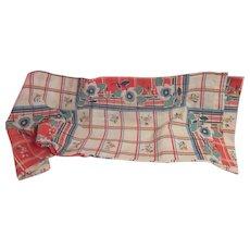 Vintage Cotton 1950's Mid Century Curtain Valance