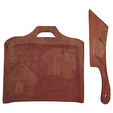 Wood Table Crumb Set