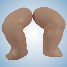 Large Pair of Composition Baby Doll Legs